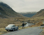 The road to the Loch Etive in the Bond's Skyfall