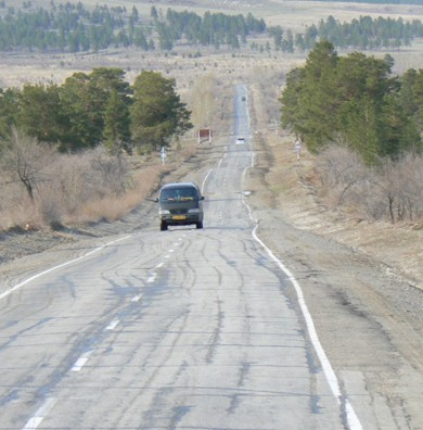 The Trans-Siberian Highway stretches from St. Petersburg to ...