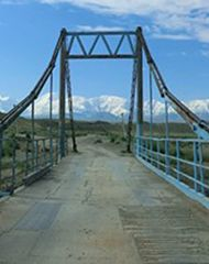 Kyzyl-suu river bridge