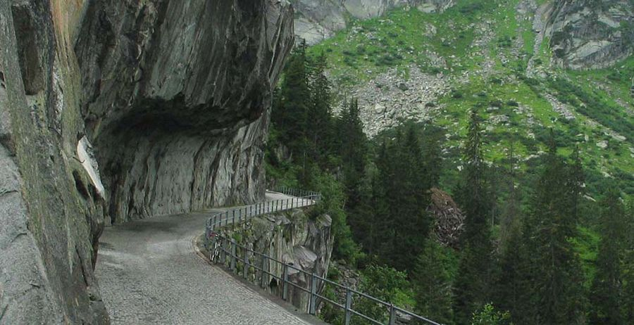 Old road to Grimsel Pass