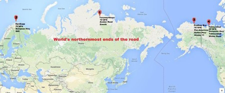 The world's northernmost road ends