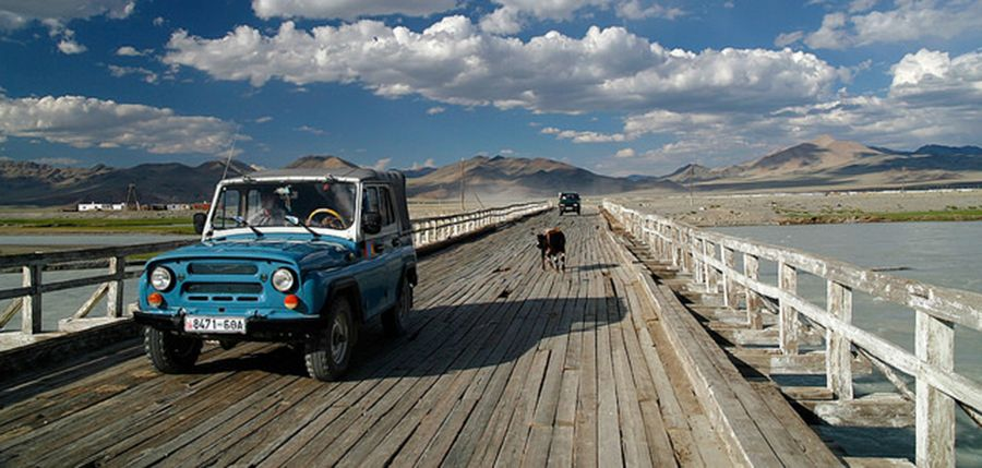 Khovd River bridge