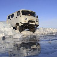 Lake Baikal ice road