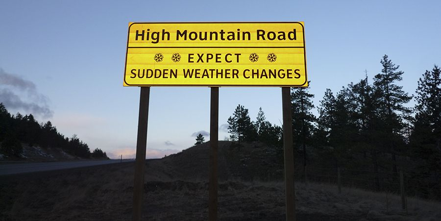 Things you need to know when you drive in a high mountain road