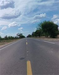 The longest straight roads of Paraguay